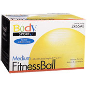 BodySport Fitness Ball 65cm, Anti-Burst, Yellow, ZR65AB