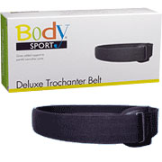 BodySport Trochanter Belt Black, 2 Inch Wide, Medium, ZRB196MED