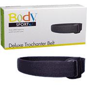 BodySport Trochanter Belt Black, 2 Inch Wide, Small, ZRB196SML