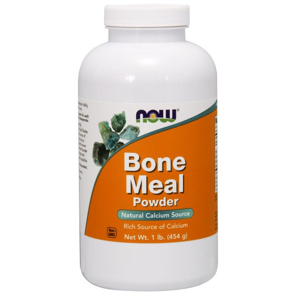 Bone Meal Powder 16 oz, NOW Foods