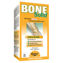 Bone Solid, Triple Action Bone Support, 180 Capsules, Country Life
