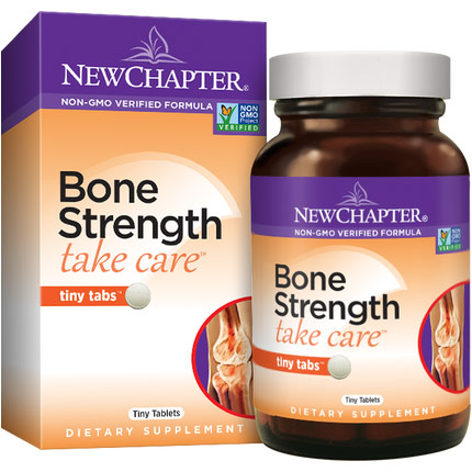 Bone Strength Take Care Tiny Tabs, Whole Food Calcium Supplement, 120 Tablets, New Chapter