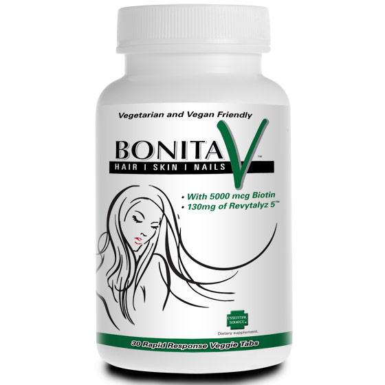 Bonita V Hair Skin Nails, Value Size, 90 Rapid Response Veggie Tabs, Essential Source