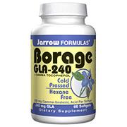 Borage GLA 240 mg, Plus Gamma Tocopherol, 60 softgels, Jarrow Formulas