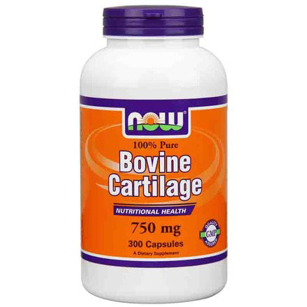 Bovine Cartilage 750mg 300 Caps, NOW Foods