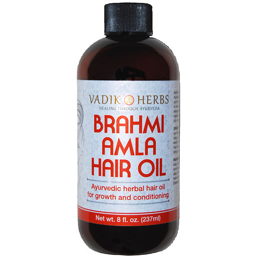 Brahmi-Amla Oil, 8 oz, Vadik Herbs (Bazaar of India)