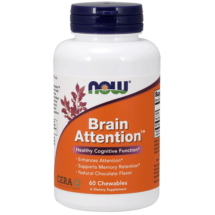 Brain Attention, Chewable Cera-Q, 60 Chewables, NOW Foods
