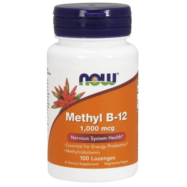 Methyl B-12 1000 mcg, Methylcobalamin, 100 Lozenges, NOW Foods