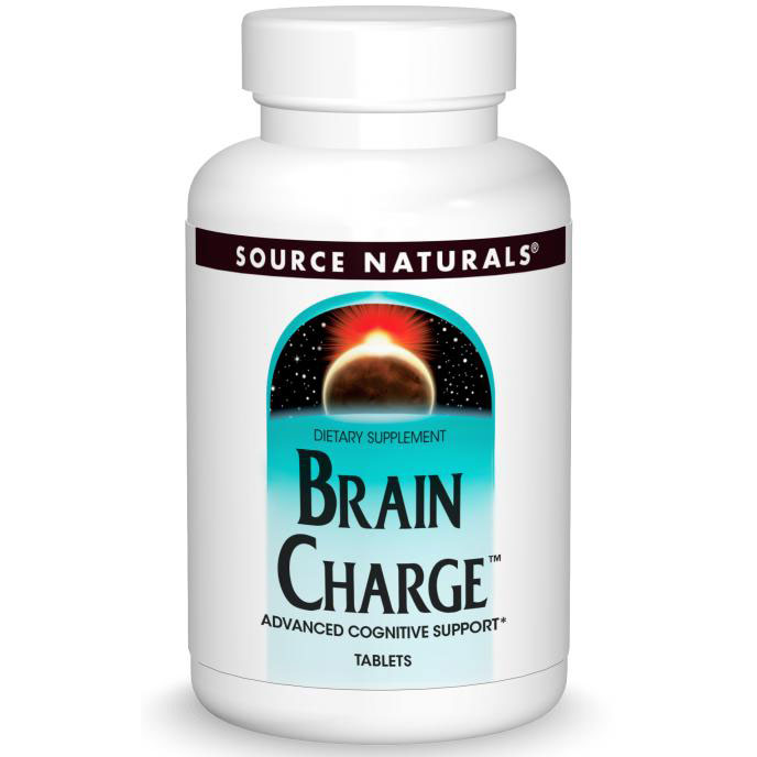 Brain Charge, Advanced Cognitive Support, 60 Tablets, Source Naturals