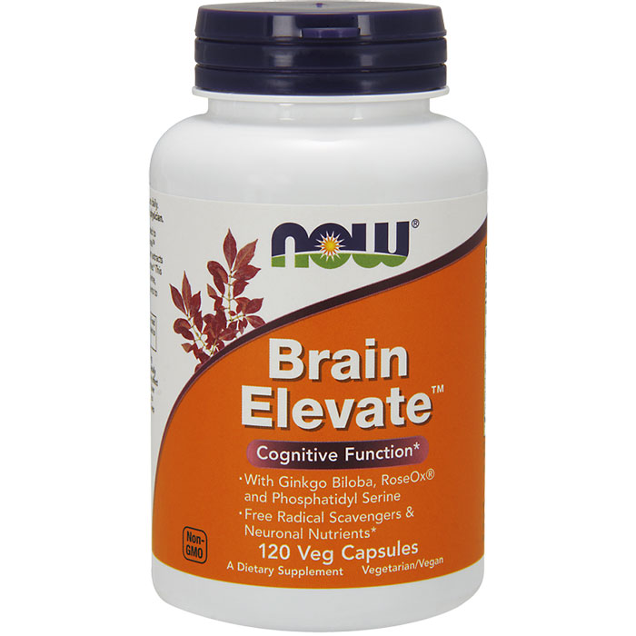 Brain Elevate 120 Vcaps, NOW Foods