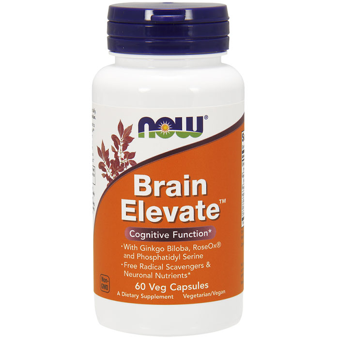 Brain Elevate 60 Vcaps, NOW Foods
