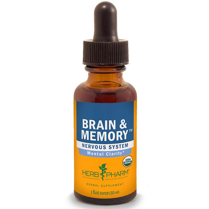 Brain & Memory Tonic Liquid, 4 oz, Herb Pharm