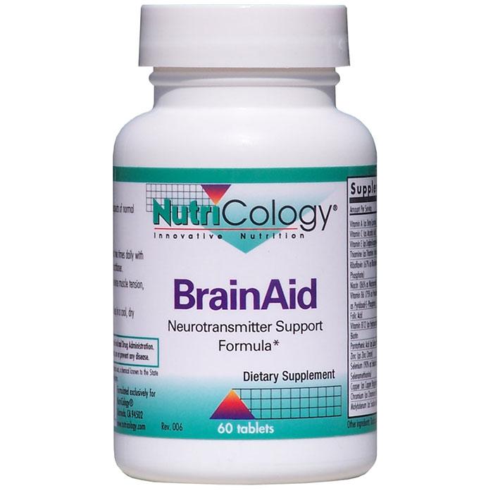 BrainAid, Neurotransmitter Support Formula (Brain Aid), 60 Tablets, NutriCology
