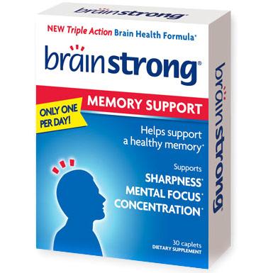 BrainStrong Memory Support, Triple Action Brain Health Formula, 30 Caplets, i-Health, Inc.