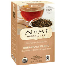 Breakfast Blend Black Tea, 18 Tea Bags, Numi Tea