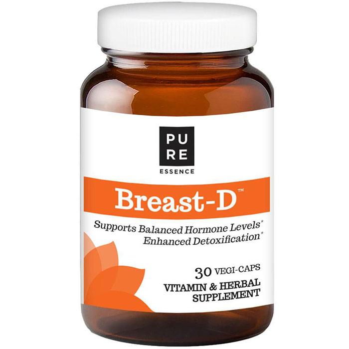 Breast-D (With D3, DIM, Calcium D-Glucarate), 30 Vegetarian Capsules, Pure Essence Labs