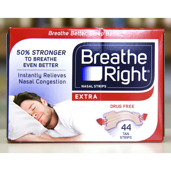 Breathe Right Nasal Strips - 38 Strips (Large Size)