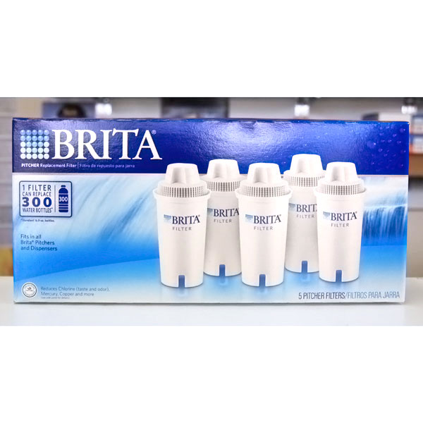 Brita Vintage Pitcher Water Filtration System with 2 Filters: Brita Pitcher Replacement Filter, Fits in All Brita Pitchers & Dispensers, 5 Filters