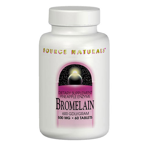 Bromelain 2000 GDU 500mg 60 tabs from Source Naturals