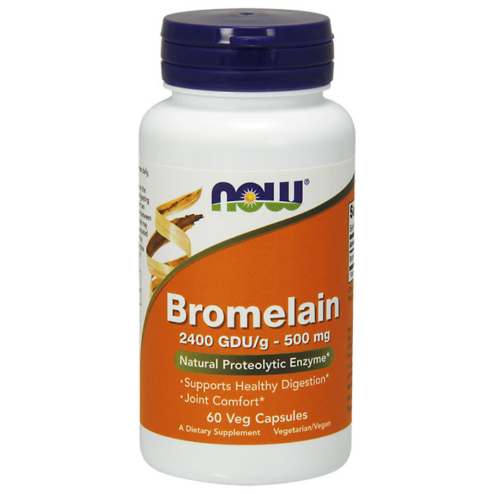 Bromelain 2400 GDU/500 mg, 60 Vcaps, NOW Foods