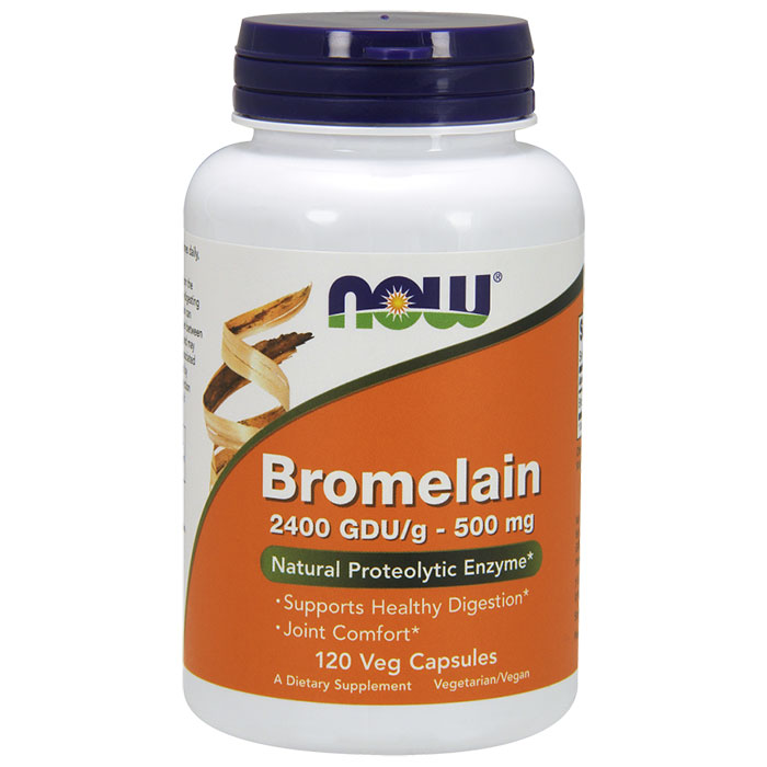 Bromelain 2400 GDU/500 mg, 120 Vcaps, NOW Foods
