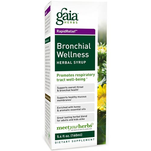 Bronchial Wellness Herbal Syrup, 5.4 oz, Gaia Herbs
