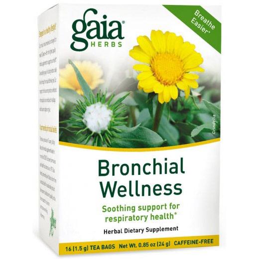 Bronchial Wellness Tea, Breathe Easier, 16 Tea Bags x 6 Boxes, Gaia Herbs