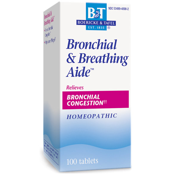 Bronchitis & Asthma Aide, 100 Tablets, Boericke & Tafel Homeopathic