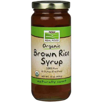 Brown Rice Syrup 16 oz, Organic Brown Rice, NOW Foods