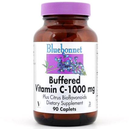 Buffered Vitamin C 1000 mg, 90 Caplets, Bluebonnet Nutrition