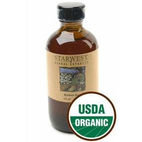 Burdock Root Extract Liquid 4 oz Organic, StarWest Botanicals