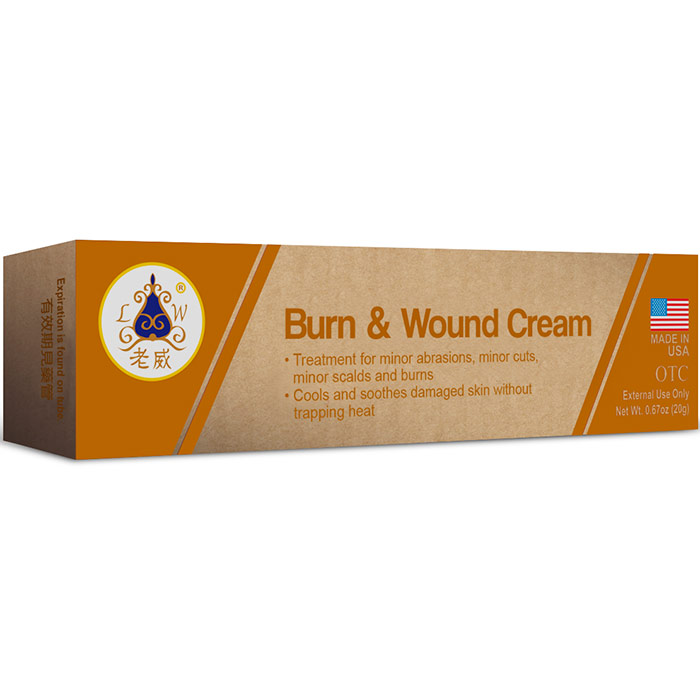 Burn & Wound Cream, 0.67 oz (20 g), Naturally TCM