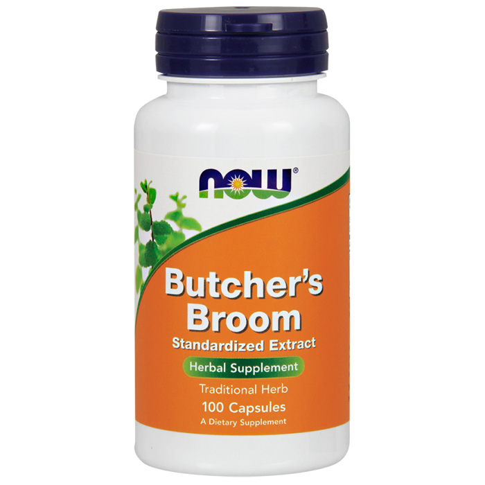 Butchers Broom Standardized Extract, 100 Capsules, NOW Foods
