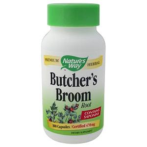 Butchers Broom Root 100 caps from Natures Way