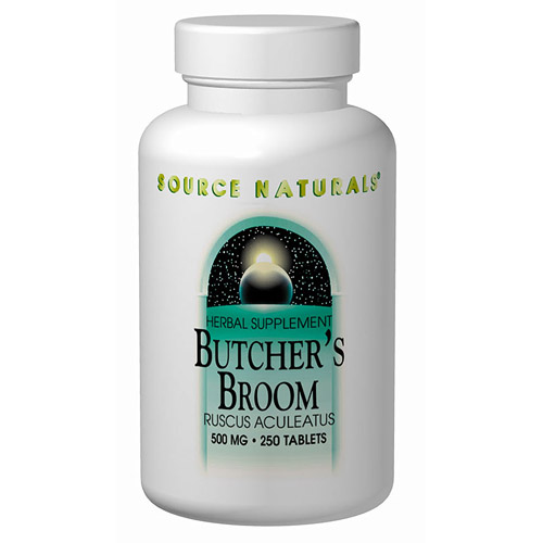 Butchers Broom, Ruscus Aculeatus 500mg 100 tabs from Source Naturals
