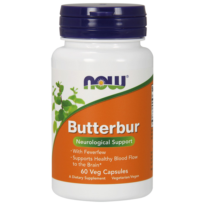 Butterbur with Feverfew, 60 Vegetarian Capsules, NOW Foods