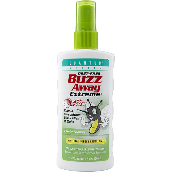 Buzz Away Extreme Spray, Bug Repellent 4 oz, Quantum Health - CLICK HERE TO LEARN MORE