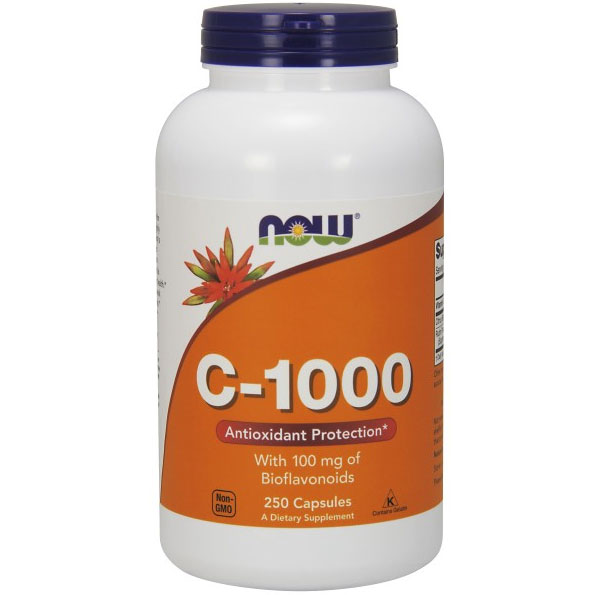 Vitamin C-1000 Caps, 250 Capsules, NOW Foods