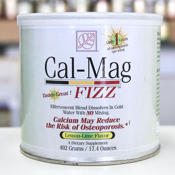 Cal-Mag Fizz Calcium & Magnesium Drink Mix, Cal Mag Lemon-Lime, 492 Grams from Baywood