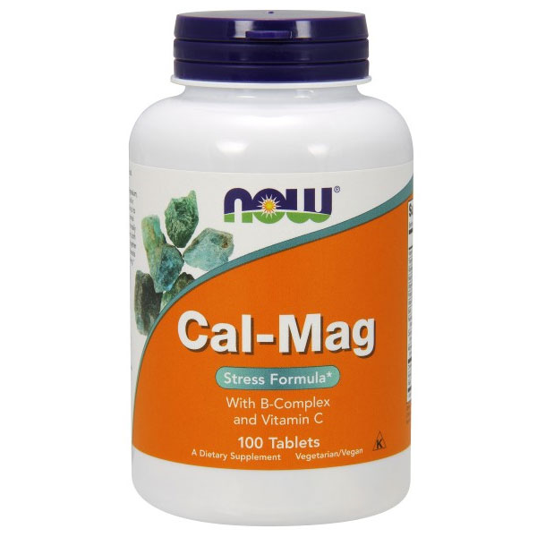 Cal-Mag Stress Formula, 100 Tablets, NOW Foods