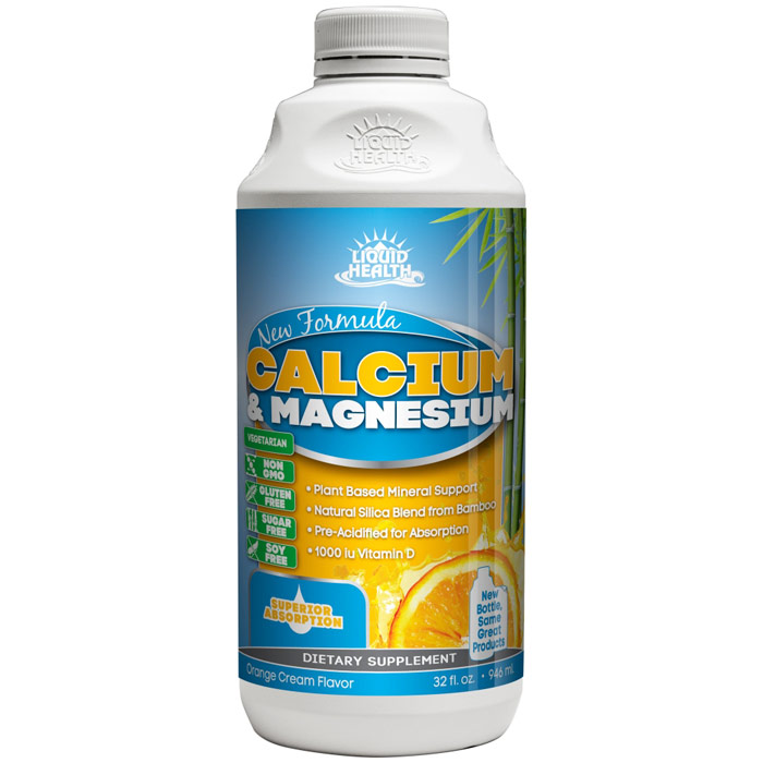 Liquid Calcium Supplement with Magnesium, 32 oz, Liquid Health