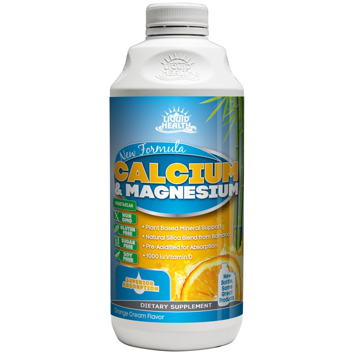 Liquid Calcium & Magnesium Supplement, 8 oz, Liquid Health