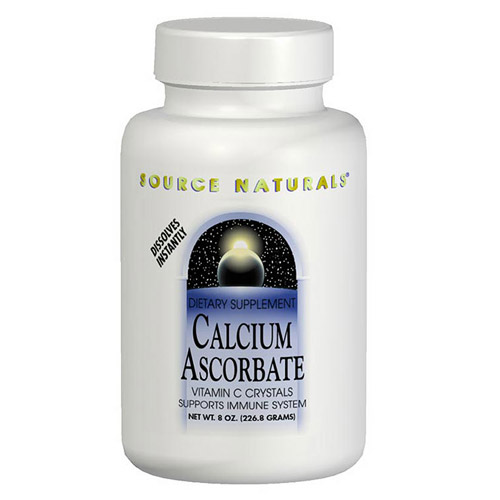 Calcium Ascorbate Vitamin C Crystals 8 oz from Source Naturals