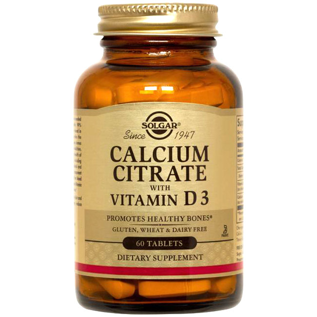 Calcium Citrate with Vitamin D, 60 Tablets, Solgar - CLICK HERE TO LEARN MORE