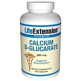 Calcium D-Glucarate 200 mg, 60 Capsules, Life Extension