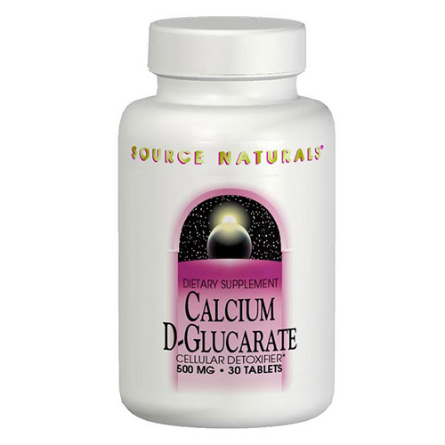 Calcium D-Glucarate 500mg 30 tabs from Source Naturals