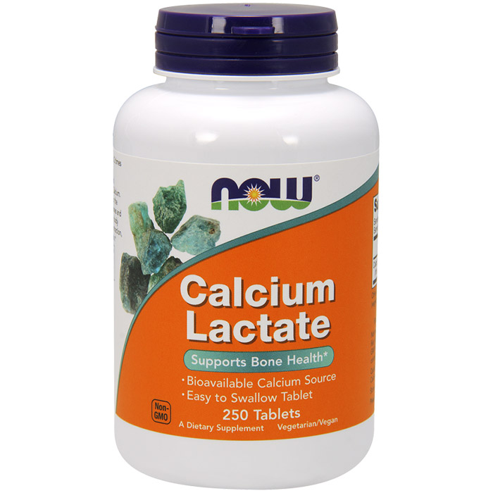 Image of Calcium Lactate 250 Tabs, NOW Foods