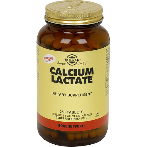 Calcium Lactate, 250 Tablets, Solgar - CLICK HERE TO LEARN MORE