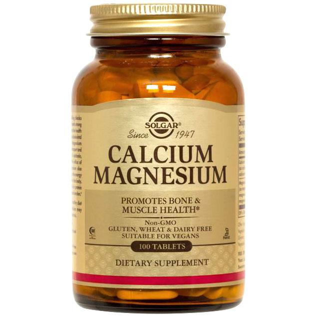 Calcium Magnesium, Vegetarian, 100 Tablets, Solgar