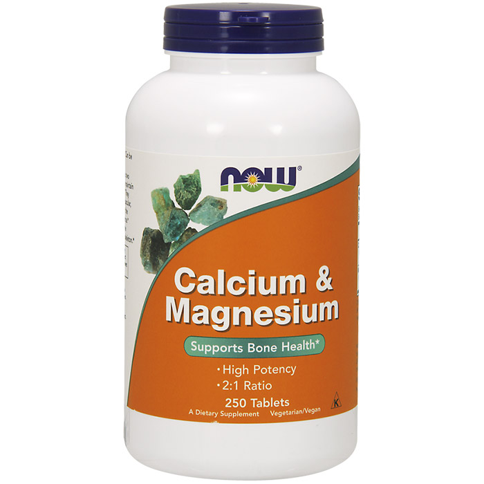 Image of Calcium & Magnesium 250 Tabs, NOW Foods